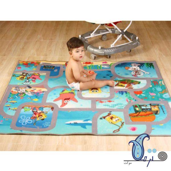 فرش بازی کودک طرح باب اسفنجی