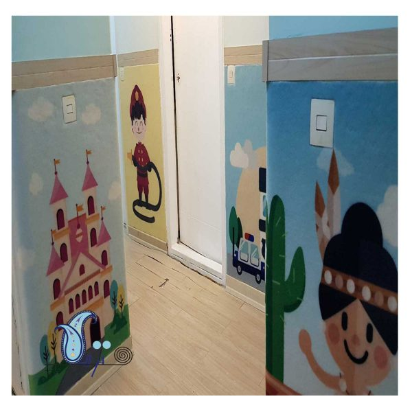 دیوارپوش نمدی اتاق کودک طرح مشاغل