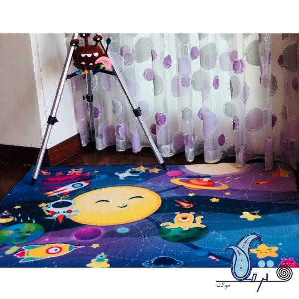 فرش بازی کودک طرح کهکشان