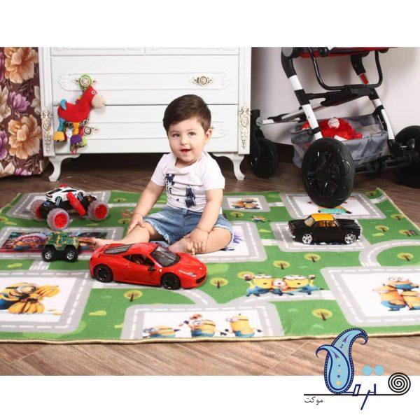 فرش بازی کودک طرح مینیون
