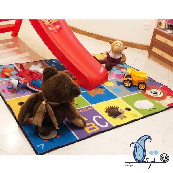فرش بازی کودک طرح نوزاد