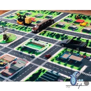 فرش بازی کودک طرح شهر