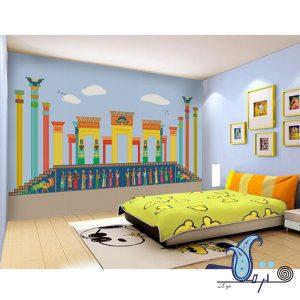 دیوارپوش نمدی طرح تخت جمشید