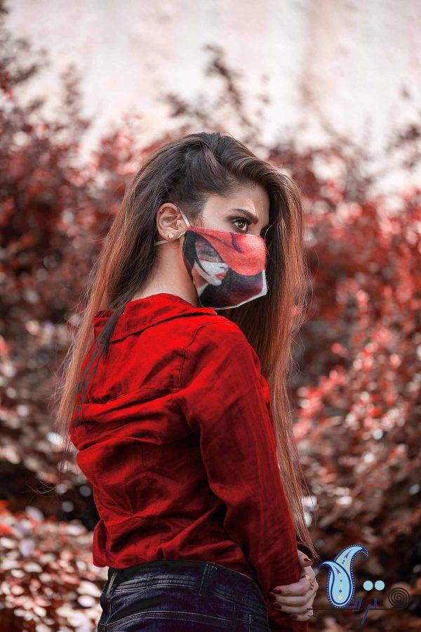 ماسک نمدی سه لایه طرح سیلویانا